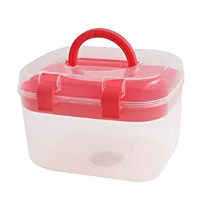 Household Plastic Multi-functional Medicine Chest Pill First Aid Case Red