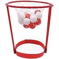 VORCOOL Aro de la venda de la venda de la bola que pega el juego de baloncesto Correa de la cabeza Favorece el juguete al aire libre del Padre-niño (rojo)