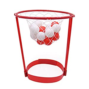 VORCOOL Stirnband Hoop Ball Fang Basketball Spiel Kopf Strap Party Favors Outdoor Eltern-Kind-Spielzeug (rot)