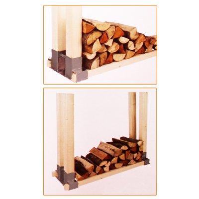 Stapelhilfe für Feuerholz-Kaminholz, 2er Set - 2