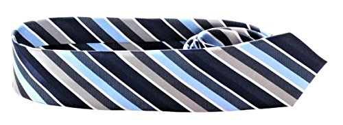 ADAMANT® Schmale Herren Krawatte in Verschiedenen Mustern (Blau)