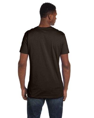 Hanes Mens Nano-T Cotton T-Shirt Dark Chocolate