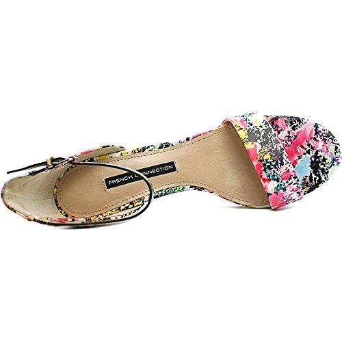 French Connection Nata Damen Leder Sandale Multi Color