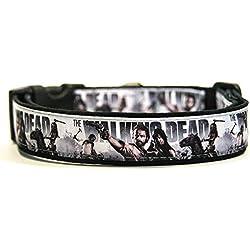 The Walking Dead C Collar Perro Hecho a Mano Talla M con Correa Multiposicion a juego Dog Collar HandMade