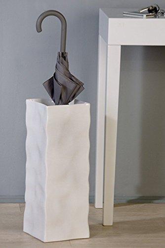 Origineller Schirmständer Move Ablage für Schirm Vase Eingangsbereich weiss