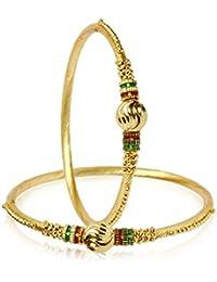 Zeneme Trendy Gold Plated Designer Bangles Jewellery For Women/Girls