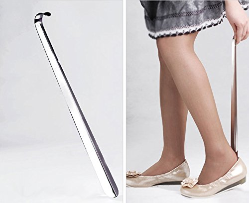 165-inch-42cm-long-shoe-horn-stainless-steel-silver-metal-shoes-remover-shoehorn