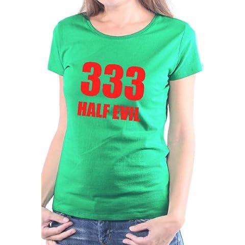 Mister Merchandise Ladies T-Shirt 333 Half Evil - Camiseta para Mujer XS-XL - Muchos Colores