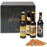 Premium Craft Bier Geschenk Box für Männer - Edles Set aus 12 (0,33l) feinsten Bieren inkl. passender BeerCards