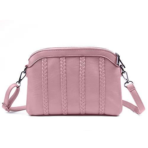 EVEOUT Damen Weiches Leder Geldbörsen Umhängetasche Abendtasche Kleine Schulter Handtasche Telefon Brieftaschen Für Mädchen und Frauen - Leder Ein-schulter Brieftasche