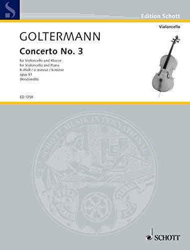 Concerto: Nr. 3 h-Moll. op. 51. Violoncello und Klavier. (Edition Schott)