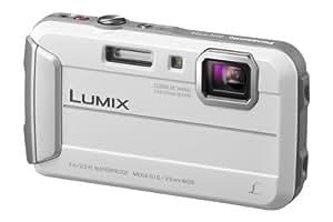 Panasonic Lumix DMC-FT25EB-W Compact Camera - White (16.1MP, 4x Optical Zoom, 25mm Ultra Wide Angle, 7m Waterproof, 1.5m Shockproof, Freeze-Proof, HD Video AVCHD)