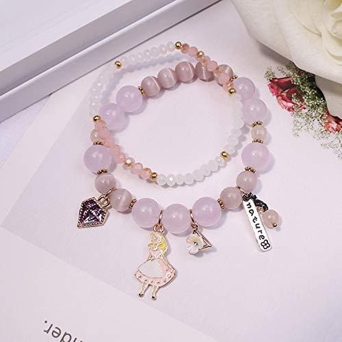 r Moon Glasperlen Kristall Weiblichen Armband Honig Honig Ornamente Handgemachte Legierung Schmuck Geschenke Geburtstag Edelsteine, 15 ()