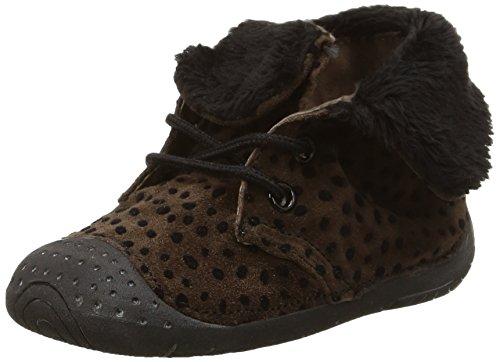 Babybotte - Zouk1, Baby Shoes per bimbi, marrone (025 marron à pois noir), 16