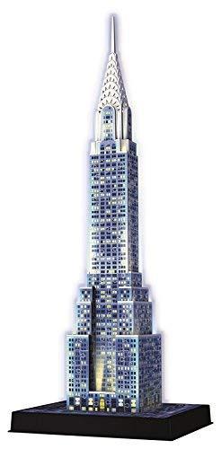 Ravensburger Chrysler Building Night Edition 3D Puzzle®, 216pc [Children\'s Jigsaw Puzzles]