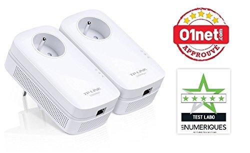 TP-Link CPL 1300 Mbps avec 1 Port Ethernet Gigabit et Prise Intégrée, Kit de 2 - Solution idéale pour profiter du service Multi-TV à la maison (TL-PA8015P KIT)