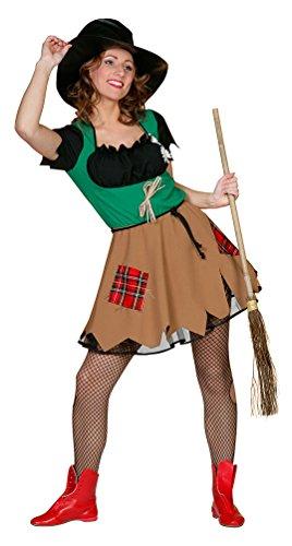 Karneval-Klamotten Vogelscheuche Kostüm Damen Vogelscheuche sexy Damen-Kostüm Karneval Größe 38