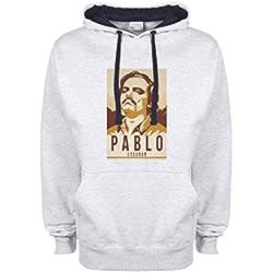 Narcos Pablo Escobar Season 2 By Dune gris / azul muy oscuro Qualità Superiore Sudadera con Capucha Unisex Medium
