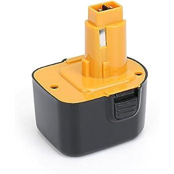 2X 12V 2000mAh Ni-CD Batterie Akku für DE9071 2802K DE9074 DE9075 DC740K
