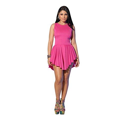 Pinkyee Damen Kleid Rose