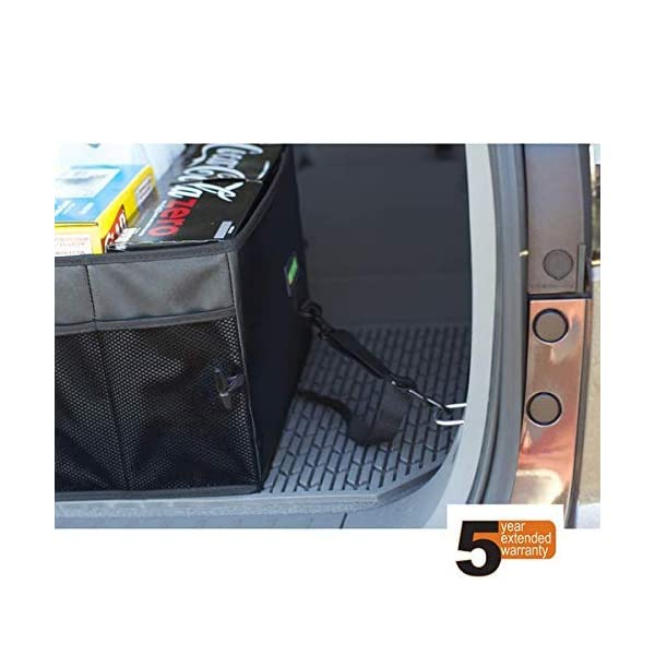 Drive Auto Products Car Organiser (Black) - Storage with Tie Down Straps, Best for Tidy Auto Organization & Boot… 3