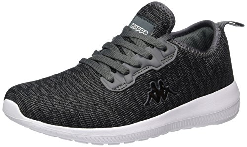 Kappa Gizeh, Sneakers Basses Mixte Adulte Noir (Black/grey)