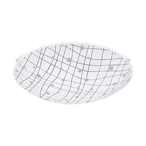 Wandleuchte Deckenleuchte VEREDA Ø 24,5cm in granille weiss, klar