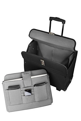 Samsonite Synaptic – Trolley para documentos, 17″, negro, 1 unidad