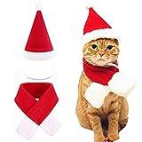UWOOD cane gatto animale domestico Santa cappello e sciarpa collare Bow Tie costume natalizio per cucciolo gattino piccoli gatti cani animali