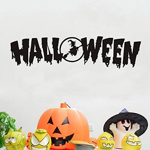 Wandaufkleber Halloween Festival DIY Tapete Tür Fenster, Kunst Tapete Blume Halloween Dekoration Zubehör 100 * 25 cm