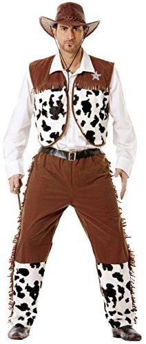 César (A886-003) - Disfraz para adulto Cowboy, talla 52-54