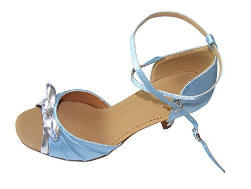 Pobofashion , Chaussons de danse pour femme Bleu Bleu Bleu - Himmelblau