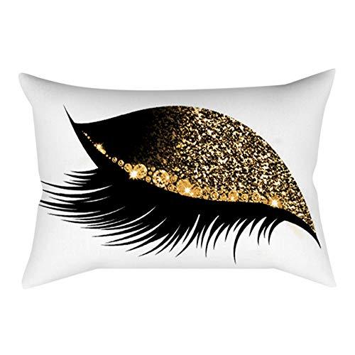 KonJin Pillow Case, Decoration Eyelash Out Soft Velvet Cushion Cover 30x50cm Marble Pillow Cases Marble Pillow Cases Simple Home Decor Comfortable Bedding Set -