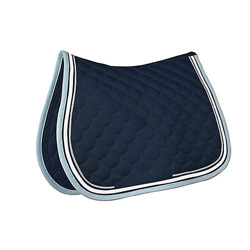 Roma Crescent Allzweck Sattel Pad Marineblau/Weiß/LT -