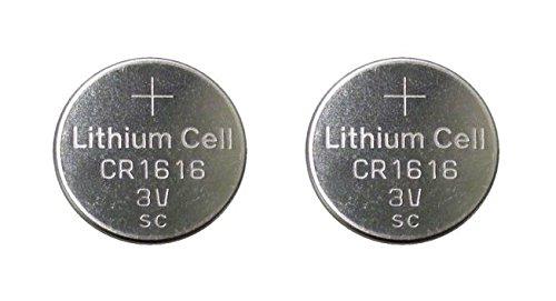 Techtastic 2x CR1616 batteries de voiture clés 1616 / Alarme Fob Piles de la Télécommande