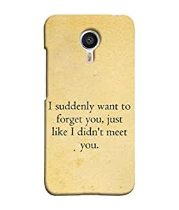 Fuson Designer Back Case Cover for Meizu M3 Note :: Meizu Note 3 (I Didn't Meet You Boy Sad Message Male )