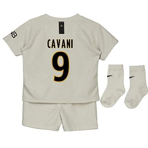 UKSoccershop 2018-19 PSG Away Baby Kit (Edinson Cavani 9)
