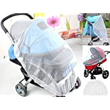 LifeKrafts Stroller Mosquito Net for Baby, Carriers, Car Seats, Cradles. Fits Most PacknPlays, Cribs, Bassinets & Playpens. 29 x 22 Inch, Made of White, Portable & Durable Baby Insect Netting (1 Pack)