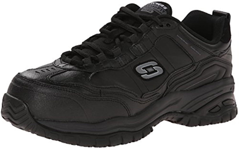 Skechers for Work Men's Soft Stride Chatham Lace up Slip Resistant Sneaker