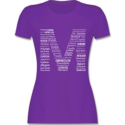 Shirtracer Muttertag - Mama ist Die Beste - Damen T-Shirt Rundhals Lila