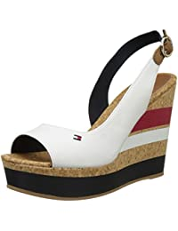 Tommy Hilfiger Int E1285stelle 38c, Sandalias con Cuña para Mujer