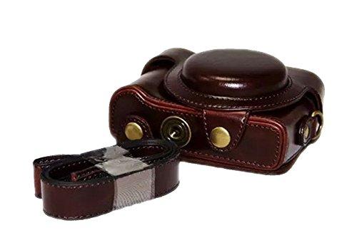 Zenness PU-Leder-Kameratasche, Cover Tasche für Sony Cyber-shot DSC-HX60 HX50 HX30 kompakte Digitalkamera (Kaffee)