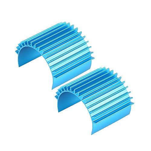 2 Pack Aluminium Motor Kühlkörper, Kühlrippen Für 370 / 380 / 2440 motor für Traxxas / HPI / Tamiya RC Auto -