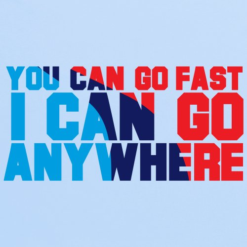 Go Anywhere T-Shirt, Damen Himmelblau