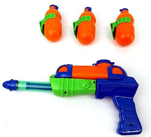Brigamo 49056 – Bottle Flash Wasserpistole inkl. drei Ersatz Flaschen zum anklipsen an den Hosenbund - 4