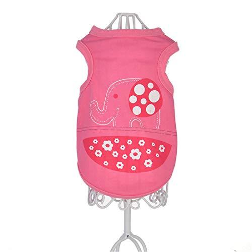 PZSSXDZW Pet Kleidung Frühling und Sommer Neue Cartoonweste Hundebekleidung Pet Kleidung Heimtierbedarf Pink Medium -
