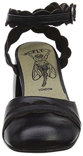 Fly London Trip938fly, Scarpe Col Tacco con Cinturino a T Donna Nero (black/black 000)