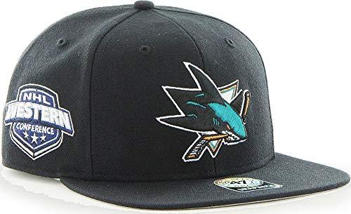 '47 Brand San Jose Sharks Sure Shot Snapback NHL Cap Schwarz