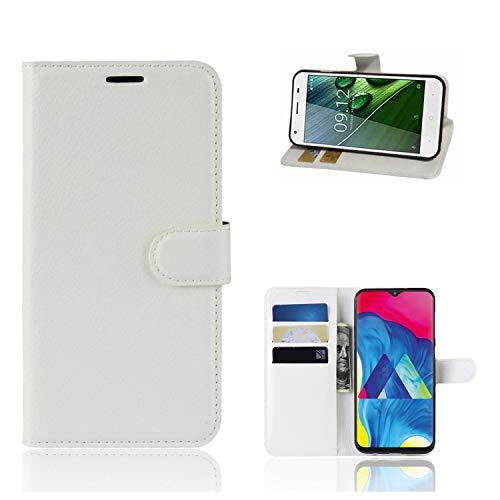 Ronsem Xiaomi Mi8 Youth / Mi8 Lite Hülle PU Leder Wallet Schutzhülle mit Kartenschlitz Flip Handyhülle für Xiaomi Mi8 Youth / Mi8 Lite - Weiß