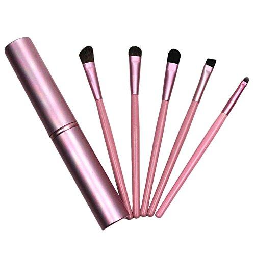 Refaxi 5Pcs Pinceau De Maquillage Professionnel Set Fard à Paupières Foundation Blush Brosses (Rose)